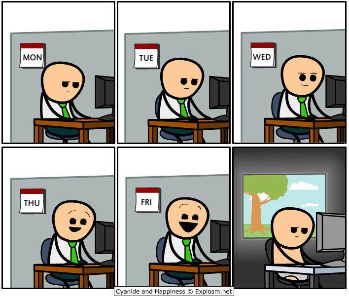 Working-week-vs-the-weekend